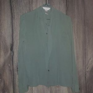Jonee New York Button Up Tie Front Blouse